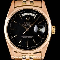 Rolex 18k Rare Red Gold Matte Black Dial Day-Date Gents 6612