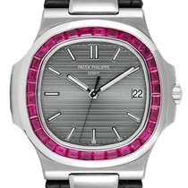 Patek Philippe 5711G White Gold with Custom Red Ruby Bezel