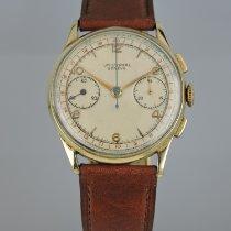 Universal Genève Chronograph 34.4+mm Handaufzug 1947 gebraucht Compax Silber