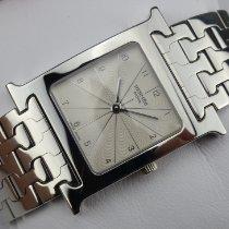 Hermès gebraucht Quarz 25mm Silber Saphirglas