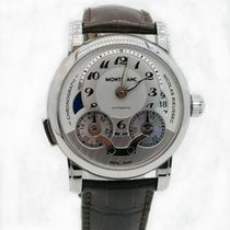 Montblanc pre-owned Automatic 43mm Silver Sapphire Glass 3 ATM