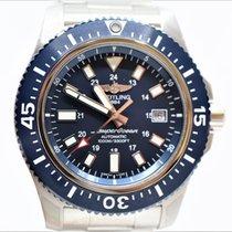 Breitling Superocean 44 Stahl 44mm Blau Keine Ziffern