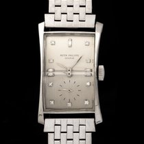 Patek Philippe Hour Glass Platinum 41mm Silver