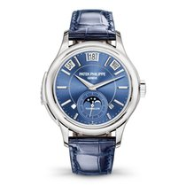 Patek Philippe Minute Repeater Perpetual Calendar White gold 41mm Blue