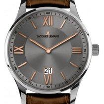Jacques Lemans Steel 40mm Quartz 1-1845N new