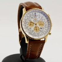 Breitling Yellow gold Automatic White Arabic numerals 41mm pre-owned Navitimer Cosmonaute