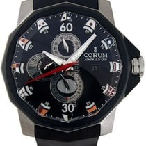Corum Admiral's Cup Competition 48 Titanio 48mm Negro Árabes