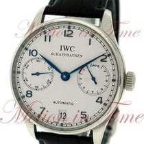 IWC Portuguese Automatic Steel 42.3mm Silver Arabic numerals United States of America, New York, New York