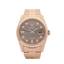 Rolex Day-Date 18k Rose Gold Gents 118205 - COM1057