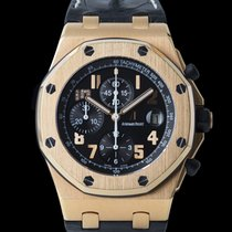 Audemars Piguet Red gold Automatic Black 42mm pre-owned Royal Oak Offshore Chronograph