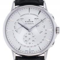 Edox 42mm Quarz neu Les Bémonts Silber