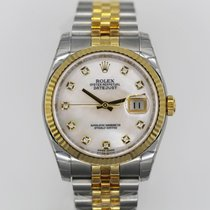 Rolex Datejust 36 mm Two-Tone Ref# 116233mdj Mother-of-Pearl Dial