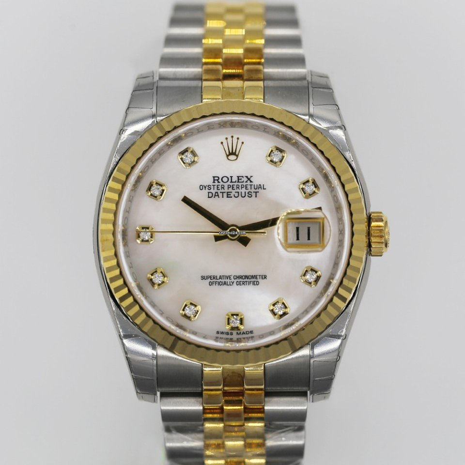 Rolex Datejust 36 mm Two-Tone Ref  116233mdj Mother-of-Pearl Dial for   13 6a81ef33316c