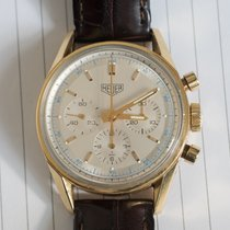 TAG Heuer Yellow gold Manual winding 36mm pre-owned Carrera