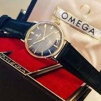 Omega Seamaster De Ville black dial crosshair vintage watch + Box