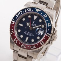 Rolex GMT-Master II Or blanc 40mm Bleu
