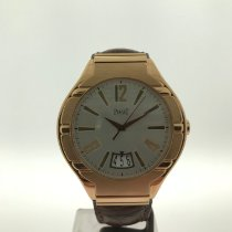 Piaget Rose gold Automatic Silver Arabic numerals 42,5mm pre-owned Polo