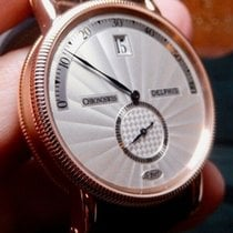 Chronoswiss Delphis Rose gold 38mm Silver United States of America, North Carolina, Winston Salem
