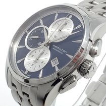 Hamilton Jazzmaster Auto Chrono Steel 42mm Blue No numerals