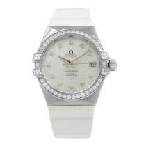 Omega White gold Automatic Mother of pearl No numerals 35mm new Constellation Ladies