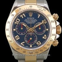 Rolex Daytona Gold/Steel 40mm Blue Arabic numerals