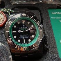 Rolex Sea-Dweller Deepsea neu 2009 Automatik Uhr mit Original-Box und Original-Papieren 116660 Seadweller DeepSea DLC Deep Green St. Tropez