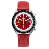 Omega Steel Automatic Red 39mm pre-owned Speedmaster Reduced
