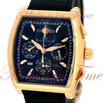 IWC Rose gold Automatic Black No numerals 43.1mm pre-owned Da Vinci Perpetual Calendar