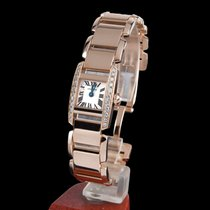 Cartier tankissime rose gold and diamonds