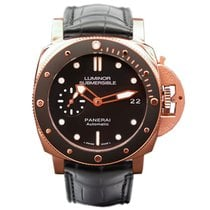 Panerai Rose gold Automatic Black 42mm new Luminor Submersible 1950 3 Days Automatic