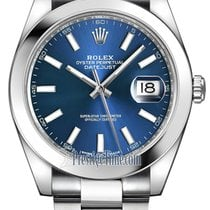 Rolex Datejust 41mm Stainless Steel 126300 Blue Index Oyster