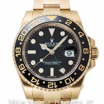 Rolex Жёлтое золото Автоподзавод Чёрный Без цифр 40mm новые GMT-Master II