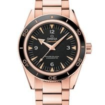 Omega Seamaster 300 Rose gold 41mm Black