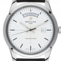 Breitling Transocean Day & Date usados 43mm Acero
