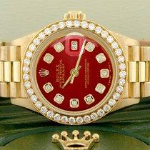 Rolex Lady-Datejust Sárgaarany 26mm Vörös