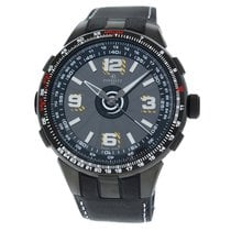 Perrelet Steel Automatic Black 48mm new Turbine Pilot