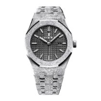 Audemars Piguet Royal Oak Frosted Gold Quartz White Gold Black...
