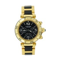 Cartier Pasha Seatimer Yellow gold 42.5mm Black Arabic numerals United States of America, Connecticut, Greenwich