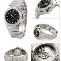 Omega Steel Automatic Black 30mm new Constellation Ladies