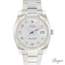 Rolex Oyster Perpetual Date Altın/Çelik 34mm Beyaz Arapça