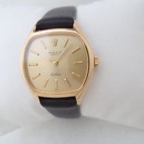 Rolex Gult gull 26mm Manuelt 3801 manual caliber 1600 vintage watch Cellini Rolex brukt