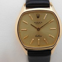 Rolex Yellow gold 26mm Manual winding 3801 manual caliber 1600 vintage watch Cellini Rolex pre-owned