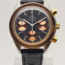 Omega Speedmaster Reduced Gold/Steel 39mm Black No numerals