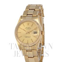 Rolex Oyster Perpetual Date Yellow gold 34mm Champagne United States of America, New York, Hartsdale