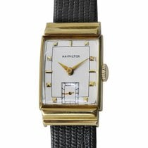 Hamilton Yellow gold Manual winding Silver 22.1mm pre-owned