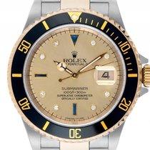 Rolex Submariner Date Sultan Stahl 18kt Gelbgold Diamond...