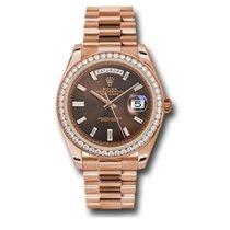 Rolex Day-Date 40 Oro rosa 40mm Marrón Sin cifras
