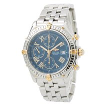 Breitling Windrider B13055 Mens Automatic Watch Blue Dial...