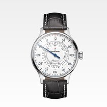 Meistersinger Pangaea Day Date Steel 40mm White Arabic numerals