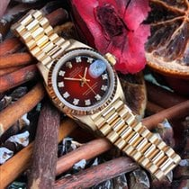 Rolex Datejust In 18ct Gold Oyster Perpetual With Factory Red...